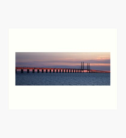 Oresund Sunset Art Print
