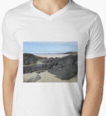 Rock Pool in Donegal Ireland Men's V-Neck T-Shirt