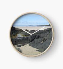 Rock Pool in Donegal Ireland Clock