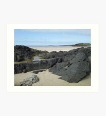 Rock Pool in Donegal Ireland Art Print