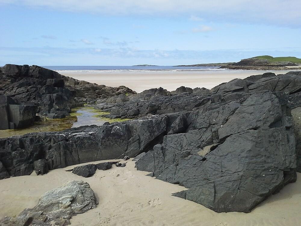 Rock Pool in Donegal Ireland by Jill Vance