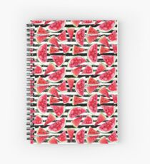 Watercolor watermelons Spiral Notebook