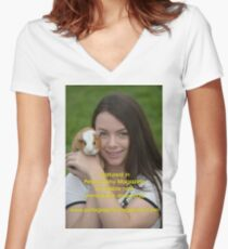 Featured in Petography Magazine Women's Fitted V-Neck T-Shirt