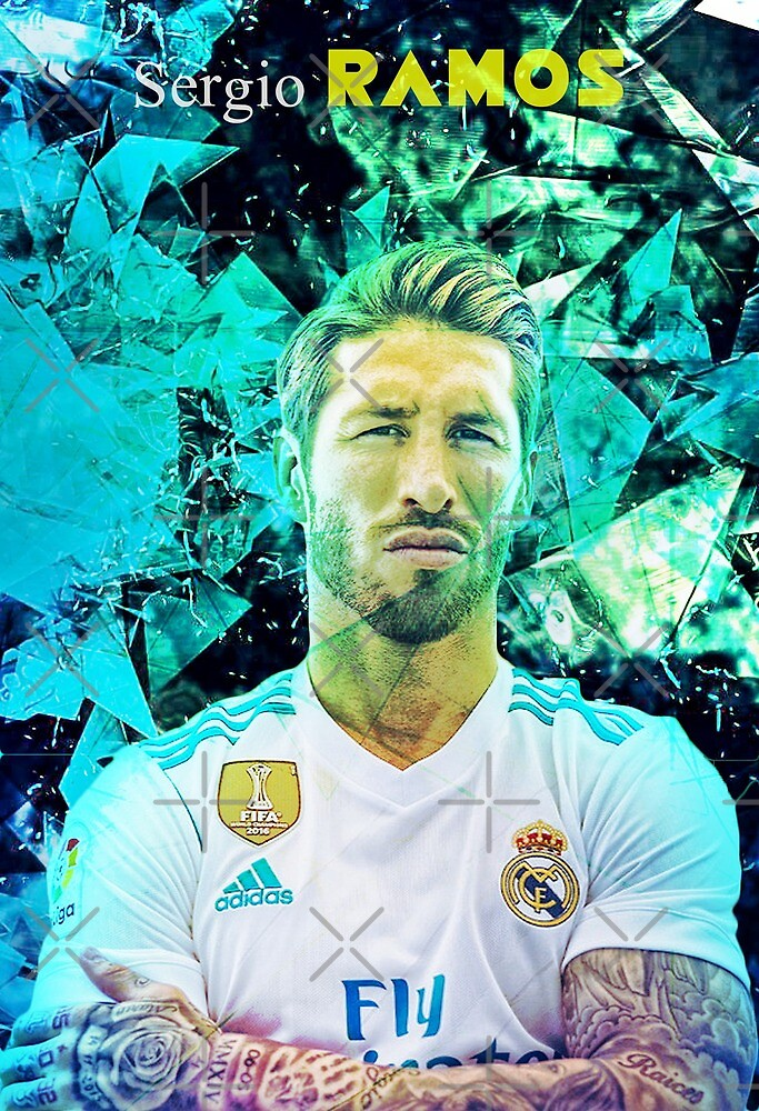 Sergio Ramos Iphone and Samsung Galaxy Mobile Cases And SKins by NewGenGFX