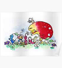 Pikmin chase Poster