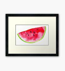 Summer watercolour watermelon slice Framed Print