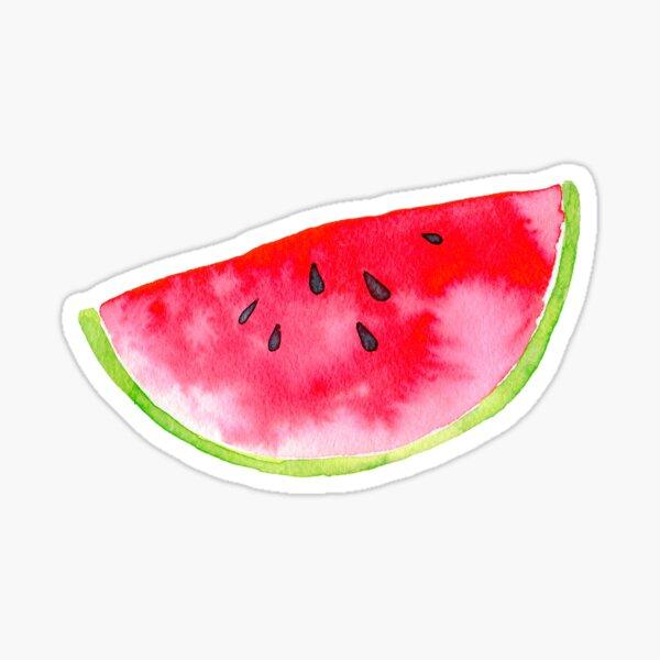 Summer watercolour watermelon slice Sticker
