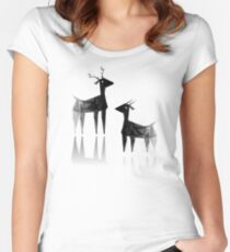 Geometric animals 3 Women's Fitted Scoop T-Shirt