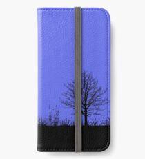 Vinilo o funda para iPhone Paisaje nocturno en azul