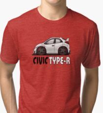 Cartoon Honda Civic Type-R FK2 Tri-blend T-Shirt