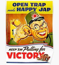 American ww2 propaganda poster, funny face Poster