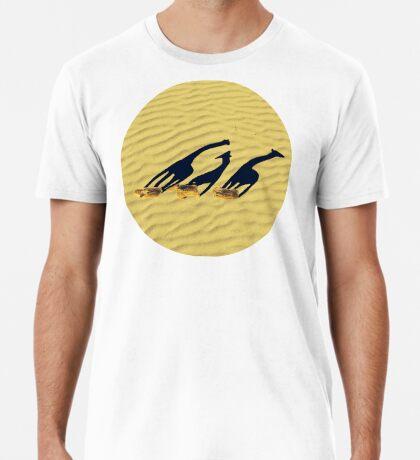 Erweiterte lange Giraffenschatten Premium T-Shirt