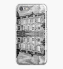 Tonbridge Castle Reflections (black and white) iPhone Case/Skin