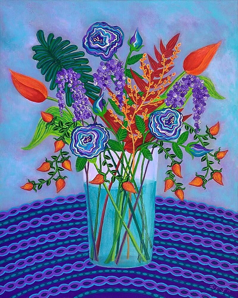 Bright Blooms by Lisafrancesjudd