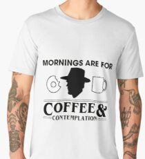 Stranger Things - Mornings Are For Coffee & Contemplation Men's Premium T-Shirt