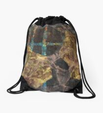 Bottom Of The Well - Abstract Work Drawstring Bag