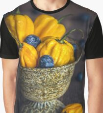 Still life with blueberries and habañero Graphic T-Shirt