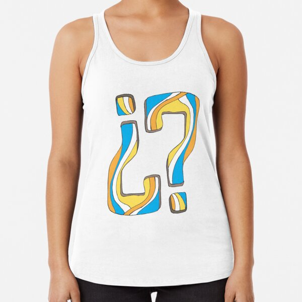 Did I say something funny? Racerback Tank Top