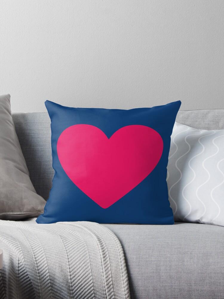 Corazón rosa by redumbrellashop