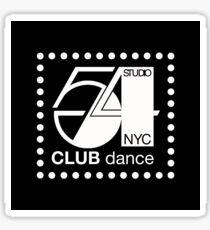 Studio 54 Club Dance NYC  Sticker