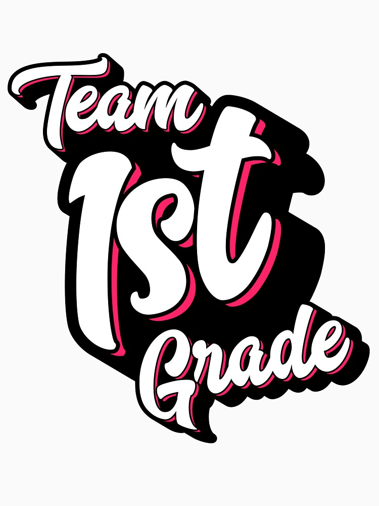 Team 1st First Grade - Back To School – Pink by augenpulver