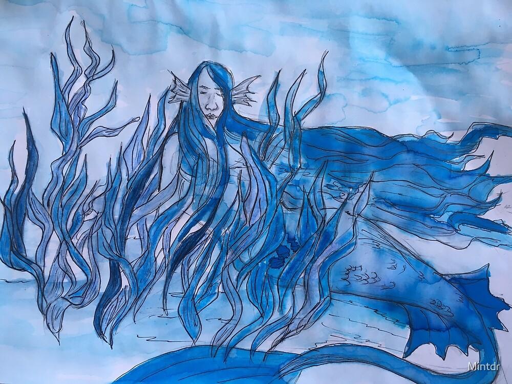 Blue mermaid  by Mintdr