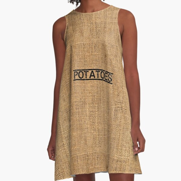 Kartoffeltasche A-Linien Kleid