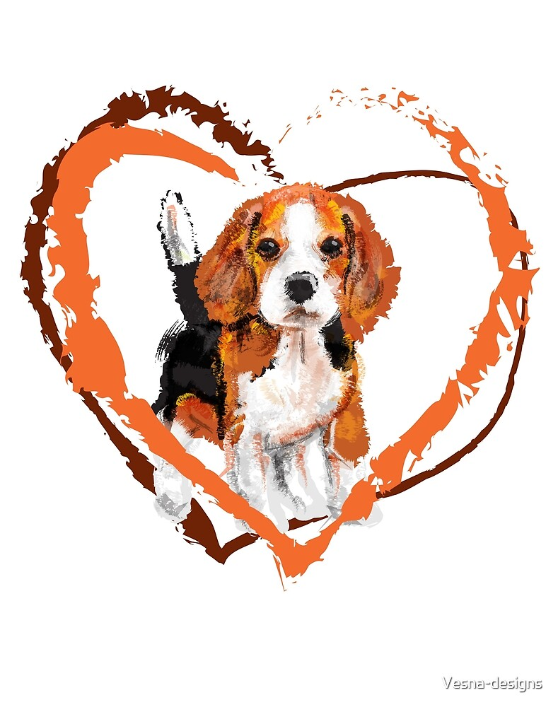 Cute Beagle puppy by Vesna-designs