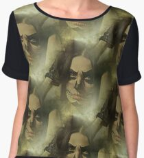 Day Of The Dead Mask - Female! Women's Chiffon Top