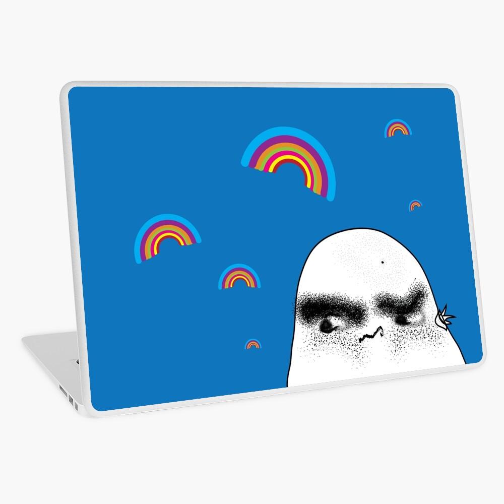 Angry Potato Man Growling at Rainbows Laptop Skin