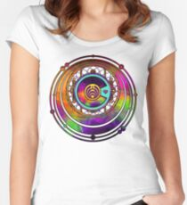Psychedelic Bassnectar Fractal Colorado Love Women's Fitted Scoop T-Shirt