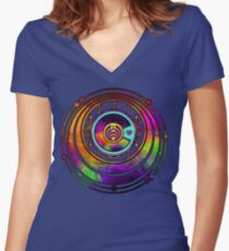 Psychedelic Bassnectar Fractal Colorado Love Women's Fitted V-Neck T-Shirt