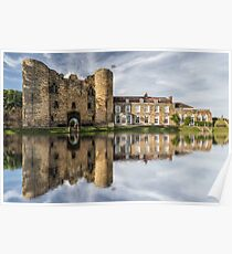 Tonbridge Castle Reflections 2 Poster