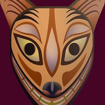 Feline tribal mask by TIERRAdesigner