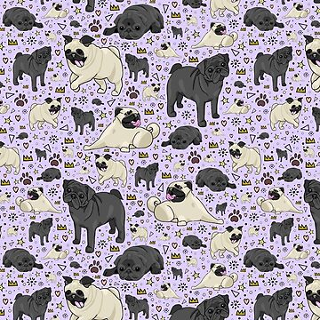 Pugs in Purple by Nemki