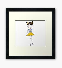 Cute girl with ice cream Framed Print
