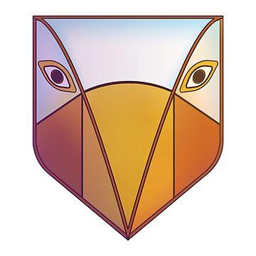 Tribal bird mask by TIERRAdesigner