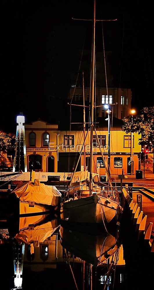 Sail Boat At Night by ExtremePro