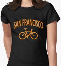 I Bike San Francisco Womens Fitted T-Shirt