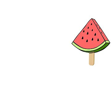 Pocket Watermelon ice cream Funny Cute Summer Fruit T-Shirt by fanchul