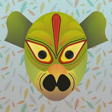 Ethnic devil bird mask by TIERRAdesigner