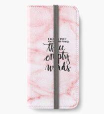 3 empty words - pink  iPhone Wallet/Case/Skin