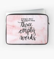 3 empty words - pink  Laptop Sleeve