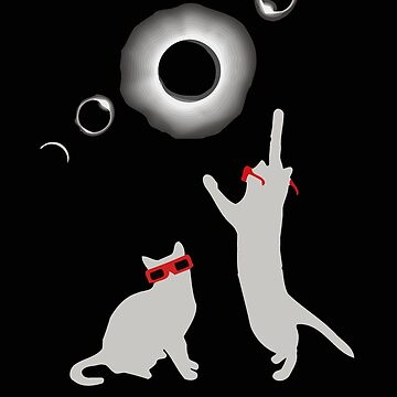 Cat total solar eclipse funny by totuong85
