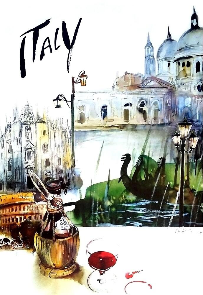 Italy, travel poster by AmorOmniaVincit