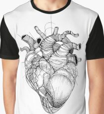 Heart Strings - by Katherine Thea Rose Art Graphic T-Shirt