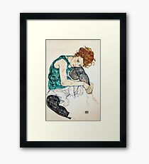 Egon Schiele Seated Woman with Bent Knee Framed Print