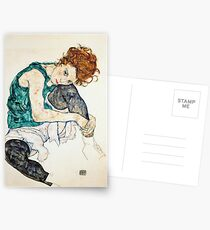 Egon Schiele Seated Woman with Bent Knee Postcards