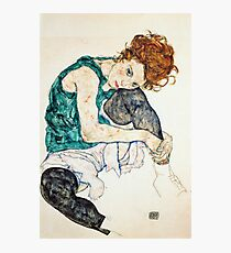 Egon Schiele Seated Woman with Bent Knee Photographic Print