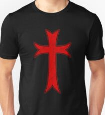 Knights Templar Cross Distressed T-Shirt  T-Shirt